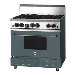 "36"" BlueStar Range in Blue Grey (RAL 7031) - RAL 7031"