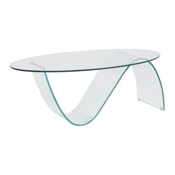 Eurostyle - Eurostyle Pandora Oval Glass Coffee Table in Clear - Eurostyle - Coffee Tables - 38508CLRA38508CLRGKIT - Ladies and gentleman Pandora has landed. All tempered glass this amazing combination of flats and curves guarantees this piece will be futuristic forever. And yes that is an oxymoron.