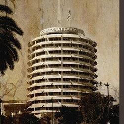 Artcom - Capitol Records 2 by Dale MacMillan - Capitol Records 2 by Dale MacMillan is a Stretched Canvas Print.