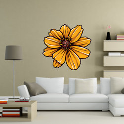 Floral Flower Vinyl Wall Decal FloralFlowerUScolor049; 12 in. - Vinyl Wall Decals are an awesome way to bring a room to life!