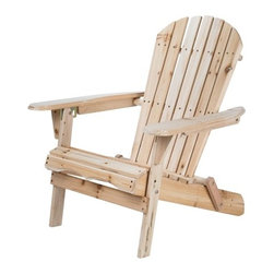 Merry Garden® Folding Adirondack Chair - I love lounging in adirondack chairs. This chair also comes with a foot rest. I would paint it a fun, bright color to make the yard a great place to hang out.