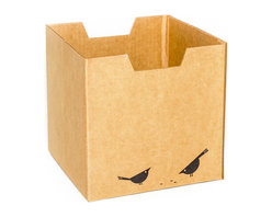 Sprout - Bird Print Cardboard Cubby Bins 3 Pack - Sprout cardboard cubby bins offer simple, modern, and practical design. Made from recycled cardboard, these bins will help to organize your child's life. Designed for use in the Sprout Cubby, you can store books, toys and more in these fun storage bins. More economical than plastic and canvas bins, Sprout cubby bins feature fun graphic designs, and add a unique touch to any playroom, bedroom or nursery.