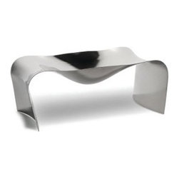 "Alessi - Hani Rashid Scup Desk Organizer - Features: -Desk Organizer. -Mirror polished finish. Specifications: -Dimensions: 4.32"" H x 12"" W x 6.24"" D. -Material: Stainless Steel."