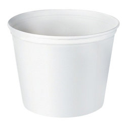 SOLO CUP - C-Unwaxed Double Wrapped Food Buckets 83 Oz White 100 - White, unwaxed. Use for foodservice or as ice buckets for lodging. 100 buckets per case, 83-oz. Container. 83-oz. Double-wrapped paper buckets.