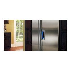 "Sub-Zero 48"" Built-in Side By Side Refrigerator, Stainless Steel | BI48SDSTH - THRU-THE-DOOR ICE & WATER DISPENSER"