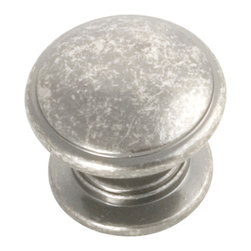 Hickory Hardware - Williamsburg Black Nickel Vibed Cabinet Knob - Bridges contemporary and traditional design.  Offering a deep rooted sense of history in some, with an updated feel and cleaner lines.