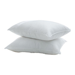 DOWNLITE - Silky Cotton Sateen Pima Down Pillow, Standard - Absolutely stunning to the touch - your head will be in cloud-like heaven. Featuring Pima cotton paired with a specially woven cotton sateen weave that is extra silky to the touch.