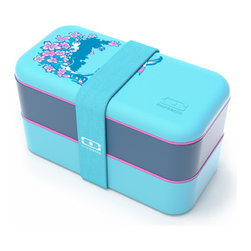Monbento - MB Original Bento Box Styles, Sakura - Monbento's Original Bento Box is now available in five unique graphic designs. Beautifully crafted with features that pack a punch in its compact shape, each box includes 2 containers, lids, a divider all in an airtight container. BPA-free, dishwasher and microwave-safe for worry-free, stylish food storage.