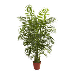 Nearly Natural - Nearly Natural 4.5' Areca Palm UV Resistant (Indoor/Outdoor) - Get your swimsuit and the sunscreen ready, because you're about to go to the beach. At least it'll feel that way when you display this beautiful Areca palm tree. Standing more than 4 feet in height, it has 8 trunks and more than 800 leaves, ready to dance in the ocean breeze, whether that breeze is in your home, office, or back patio. Fully UV resistant, this indoor / outdoor piece will make the perfect statement in just about any space, and makes a fine gift.