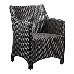 """Zuo - Zuo Modern Mykonos Aluminum Outdoor Chair - This eye-catching chair features an aluminum frame covered in a UV protected synthetic weave. Aluminum construction. Synthetic weave cover. No assembly required. For indoor or outdoor use. 22 3/4"""" wide. 25 1/2"""" high. 23 1/4"""" deep. 17"""" seat height. 15"""" seat depth.  Aluminum construction.   Synthetic weave cover.   No assembly required.   For indoor or outdoor use.   22 3/4"""" wide.   25 1/2"""" high.   23 1/4"""" deep.   17"""" seat height.   15"""" seat depth."""