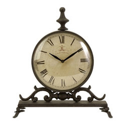 IMAX CORPORATION - Eilard Iron Table Clock - Traditional iron table clock with roman numerals,. Find home furnishings, decor, and accessories from Posh Urban Furnishings. Beautiful, stylish furniture and decor that will brighten your home instantly. Shop modern, traditional, vintage, and world designs.
