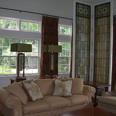 Eclectic Family Room by Cindi B.Jones