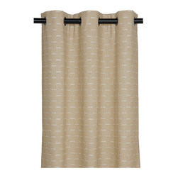 """Frontgate - Marley Off-White Curtain Panel - 108"""" x 96"""" - From Eastern Accents. Reversible coverlet features decorative fabric on both sides. Button-tufted and hand-tacked comforters have two layers of decorative fabric with polyester batting secured inside to prevent shifting. Bed skirt has split corners and kick pleats. Dry clean only recommended. Enhance any room with the harmonious color palette of the Oleander Bedding Collection. Shades of beige and ivory blend effortlessly, and even the bed pillows are decked out with button tufting, mitered flanges, and cording.  .  .  .  .  . Made in Italy."""