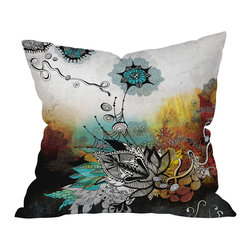 DENY Designs - Iveta Abolina Frozen Dreams Throw Pillow, 26x26x7 - This fantastical design conveys the colors and imagery of fire, water, earth and air. Let it lend a magical touch to your space.