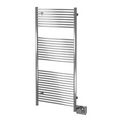 Amba - Long 27x56 Electric Heated Towel Warmer, Brushed - Dual-purpose radiator functions as towel warmer and space heater