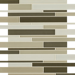 Artistic Tile Opera Glass Collection - Tempest Stilato Linear Mosaic - Versatile, contemporary and timeless: Opera Glass offers ultimate design flexibility. Clear float glass, with color applied to the back, in large and small formats, full spectrum of colors, satin and gloss finishes, and wide selection of shapes allow for endless pairing possibilities. Its versatility is unrivaled. Modern and classic, mysterious and inviting, Opera Glass is fresh and elegant.