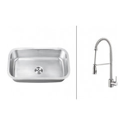 Ruvati - Ruvati RVC2496 Stainless Steel Kitchen Sink and Chrome Faucet Set - Ruvati sink and faucet combos are designed with you in mind. We have packaged one of our premium 16 gauge stainless steel sinks with one of our luxury faucets to give you the perfect combination of form and function.