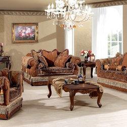 Genevieve - Luxury Living Room Sofa Set -