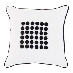 Surya Rugs - Buttons White 18 x 18 Pillow with Black Buttons - -  Zippered Removable Cover  -Includes: 1 poly-fiber filled insert and 1 pillow cover -100% Cotton -Dry Clean Only Surya Rugs - BT1105-1818P
