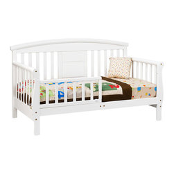 DaVinci - DaVinci Elizabeth II Convertible Toddler Bed in White - Made from sustainable New Zealand pine, this convertible toddler bed is the perfect choice when your little one is ready to transition from a crib. The bed easily converts to a daybed and then a full-size bed when the child is ready.