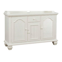 Broyhill Furniture - Mirren Harbor 3 Door and 1 Drawer Server in White - 4024-51 - Mirren Harbor Collection Server