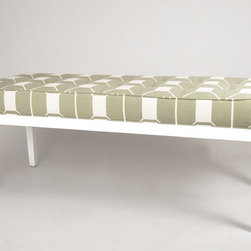 Marley Bench - Our Marley bench features classic button tufting with the clean lines of a platform base.