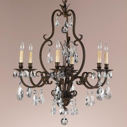 Murray Feiss - Aged Tortoise Shell Salon Maison 6 Light Chandelier - Lamping Technology: