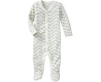 Modern Kids Products Printed Footed One-Pieces for Baby, Gray Zebra