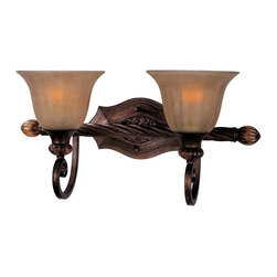 Maxim Lighting - Maxim Lighting Dresden Traditional Wall Sconce X-LFME37222 - It's easy to fall in love with the Old World charm of this Maxim Lighting Dresden Traditional Wall Sconce. It has a horizontal arm with two gently scrolled arms that hold two ember glass shades. It's a beautiful fixture in a Filbert finish, and one that will catch anyone's attention whether it's mounted in the up or down position.