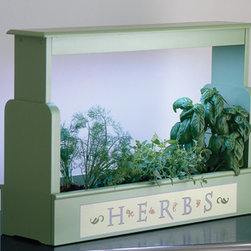 Lighted Herb Planter - If your gardening friends prefer a more whimsical cottage look, this Lighted Herb Planter from Charleston Gardens has a built-in light and country style.