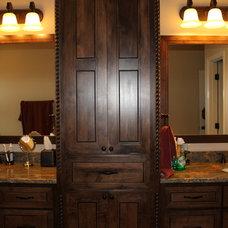 Mediterranean Bathroom by WTL Construction LLC