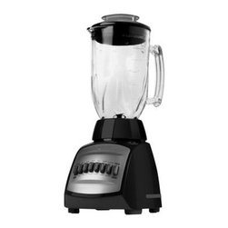 Applica - Black Decker 12 Spd Blender Glass Jar Black - Black and Decker Cyclone 12 speed Blender in Black. Only Black and Decker brings the full power of the Cyclone to your fingertips. Ice fruit coffee beans beware. Theres a cyclone on the way and its going to pulverize chop blend and mix anything that gets in its path. With the cyclone blender all the conditions are right. Its 650 watts of peak power work in conjunction with a unique contoured jar design and 4 plane blades to create a cyclone you can see and results that will impress.