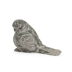 Singleton Garden Black Bird - This twittering friend is perfect for adding character inside or out! with the look of aged, carved, painted wood, this sweet songbird works great as a door stop, a garden decoration, or a decorative room accent in an enclosed patio.