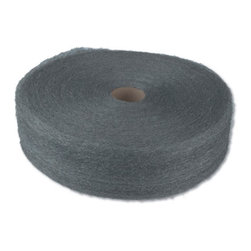 GLOBAL MATERIAL TECHNOLOGIES - #1 STEEL WOOL 5LB REE 6/CS - 4-in. wide continuous ribbon of steel wound on a fiber core. The most economical format for bulk users of steel wool; ideal for making custom shapes and pads sized for specific uses. 5-lb. reel. 6 reels per case. Shpg. wt. 32.6-lbs.. . . . . #1 Medium. . #1 Medium. Industrial-Quality Steel Wool Reels. Dimensions: Height: 2, Length: 1.3, Width: 1.3. Country of Origin: CN