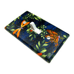 Modern Switch - Monarch Butterfly Light Switch Cover - This light switch cover is made when ordered please allow 1-2 weeks before shipping.