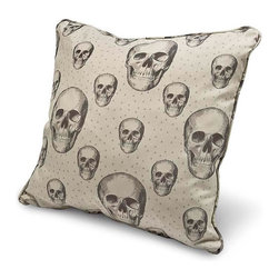 Regina Andrew - Regina Andrew Skalle Bone Large Square Pillow - Large Square Pillow in skalle bone pattern by Regina Andrew.Minimum 2 pillows per order.