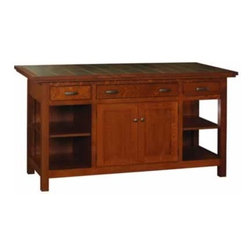 Large Brookline Mission Island - Amish Direct Furniture offers Nationwide Shipping at the Best Prices. Furniture can be Customized by Wood, Stain Color, and Other Styles. See Our Entire Variety of Custom-Made Furniture on Our Site!