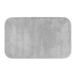 None - Enliven Textured Platinum Grey 24x40 Bath Rug - Sophisticated yet durable, machine washable and soft, this Enliven textured bath mat brings design and comfort to your bath, shower or spa. The rug is created from durable nylon with non-skid latex backing for safety.
