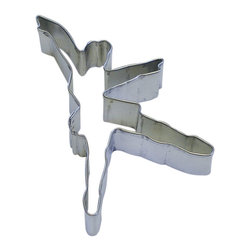 RM - Ballerina 4.5 In.  Tall B1349X - Ballerina cookie cutter, made of sturdy tin, Size 4.5 in., Depth 7/8 in., Color silver