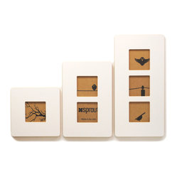 Quark Enterprises - Three Frames Six Photos Display Set, White - These modern frames would make a great housewarming gift for your eco-minded friends. They look great and are made from recycled materials, which will leave you feeling good about buying them.