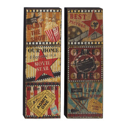 Nostalgia with Wood Wall Panel, Set of 2 - Description: