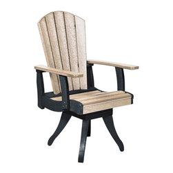 C.R. Plastic Products - C.R. Plastics Dining Arm Swivel Chair In Two Tone - C.R. Plastics Dining Arm Swivel Chair In Two Tone