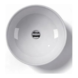 WS Bath Collections - Ceramica 17.7 x 5.9 Above The Counter Bathroo - Over-counter (Vessel) Installation. Without Overflow. Made to Highest Industry Standards. Made in Italy. Product Material: White Ceramic. Finish/Color: White. Dimensions: 17.7 in. W x 17.7 in. L x 5.9 in. H