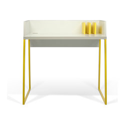 Temahome - TemaHome Volga Desk, Yellow - Small-scaled work desk ideal for tight spaces.