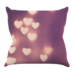 """Kess InHouse - Beth Engel """"Your Love is Electrifying"""" Throw Pillow (18"""" x 18"""") - Rest among the art you love. Transform your hang out room into a hip gallery, that's also comfortable. With this pillow you can create an environment that reflects your unique style. It's amazing what a throw pillow can do to complete a room. (Kess InHouse is not responsible for pillow fighting that may occur as the result of creative stimulation)."""
