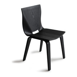 OSIDEA - Osidea V Dining Chair, Black - A bold, but elegant stance gives this dining chair great presence. Bent plywood construction and natural finish compliment the clean design.