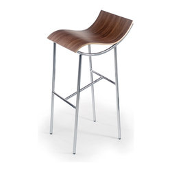 OFFI - Arp Stool 30 in., Walnut - Designed by Karim Rashid, part of the OFFI Arp Stool Collection. Seat height: 30 inches.