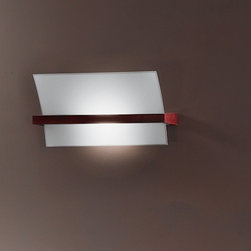 """Linea Light - Linea Light Wood wall lamp 90116 - This lamp consists  of wenge wood fitting and decorations as well as white silk-screened sandblasted  glass.    Product description:   The Linea Light Wood wall lamp is designed and produced in Italy. This lamp consists  of wenge wood fitting and decorations as well as white silk-screened sandblasted  glass.      Details:                                                           Manufacturer:             Linea Light                            Made in:            Italy                            Dimensions:             Width: 17.72"""" (45 cm)      Height: 9.84"""" (25 cm)                                Light bulb:             150W R7s double ended - not in.                            Material             wenge wood, glass"""