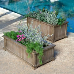 Coral Coast Antique Grey Planter Box
