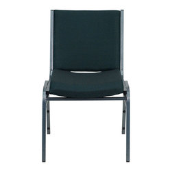 "Flash Furniture - Hercules Series Heavy Duty, 3"" Thickly Padded, Green Patterned Upholstered Sta - This functional stack chair can be used in a multitude of environments from small to large. The versatility of the chair makes it appropriate to use in the Church, Offices, and Training Rooms or in the Classroom or Home. The thick padded seat and back will keep users comfortable throughout the duration of the day. Not only is this chair comfortable, but it is very durable with its heavy duty frame with bumper guards that will prevent the finish on the frame from being scratched when stacked. So when in need of temporary or permanent seating this multi-purpose stack chair is sure to meet the needs for any venue."